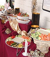 2.	Roman inspired catering provided by Brothers Signature Catering.