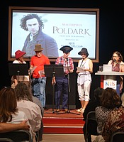 Guests participating in a Poldark skit.