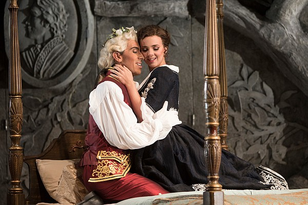 Bass-baritone Evan Hughes is Figaro and soprano Sarah Sha...