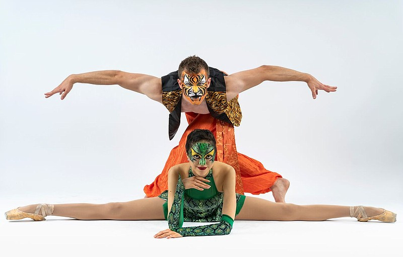 A 2018 photo of dancers from San Diego Ballet's