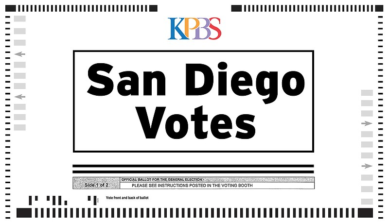 A KPBS graphic depicting a ballot is shown in this undated image.