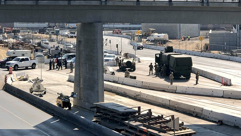 U.S. Marines arrive at the San Ysidro Port of Entry to assist U.S. Customs an...