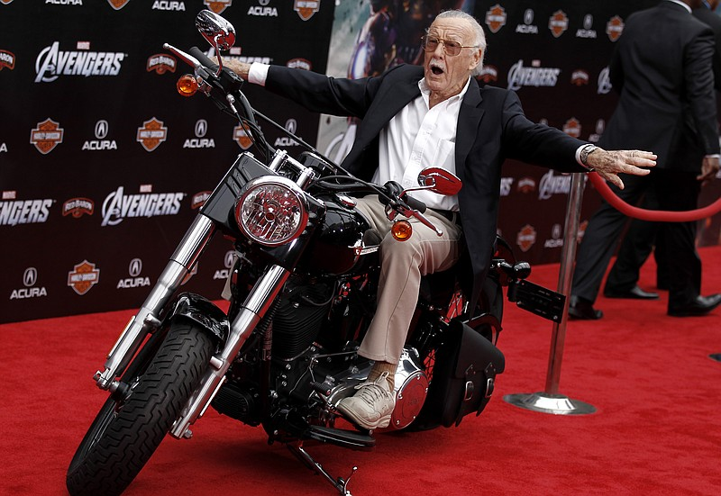 Stan Lee arrives at the premiere of