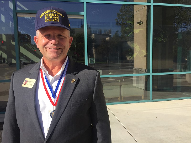 Matt Foster, San Diego County Veteran Of The Year, is pictured in this undate...