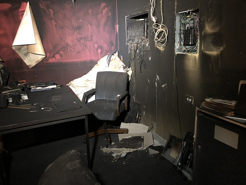 Fire damage at the Alliance of Californians for Community Empowerment office ...