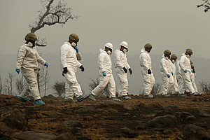 Guard Troops Search For More Dead In Aftermath Of Wildfire