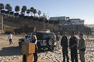 Photo for DHS Secretary Kirstjen Nielsen Visits U.S.-Mexico Border In San Diego