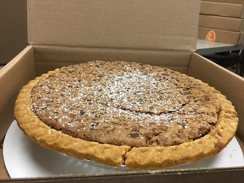 A Pecan pie waits to be sold at Mama's Kitchen in City Heights on Wednesday, ...