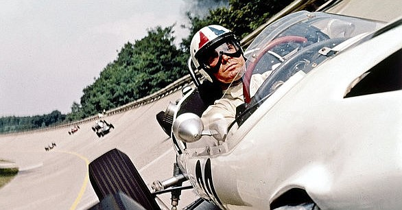 James Garner stars as a race car driver in the 1966 film ...