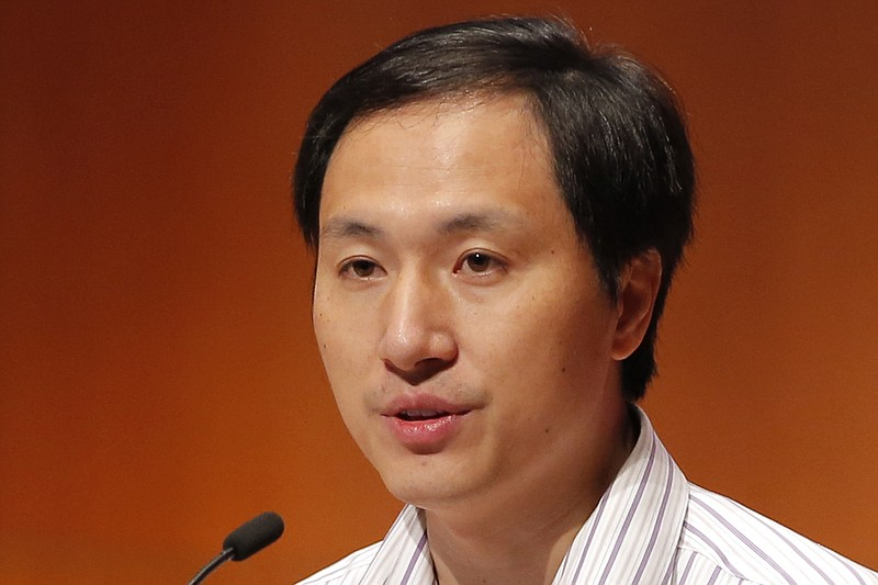 He Jiankui, a Chinese researcher, speaks during the Human Genome Editing Conf...