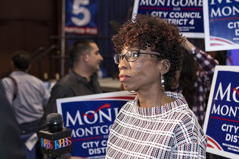 San Diego City Council District 4 elect Monica Montgomery at Golden Hall, Nov...