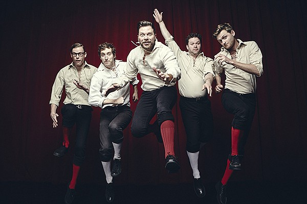 A promotional photo of the Improvised Shakespeare Company.
