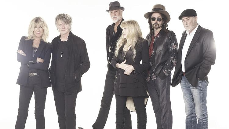 A 2018 photo of Fleetwood Mac's latest lineup, (from left) Christine McVie, N...