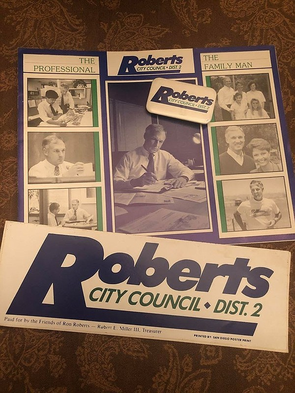Campaign literature for Ron Roberts' race for San Diego C...