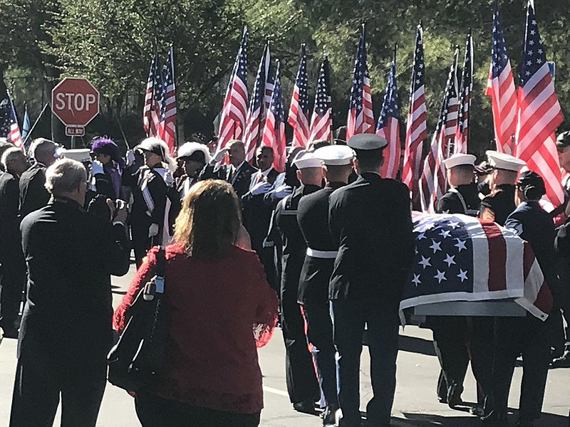 The body of Ray Chavez, the oldest Pearl Harbor survivor, was laid to rest at...