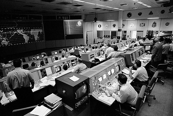 View of Firing Room at Kennedy Space center during Apollo...