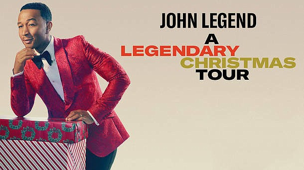 A 2018 promotional poster for John Legend's A Legendary Christmas tour.