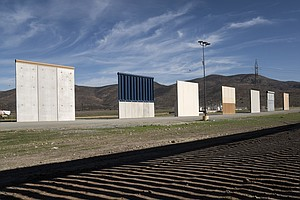Wall Prototypes Sit On The US-Mexico Border