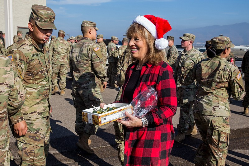 Rep. Jackie Speier, D-Calif., meets service members assigned to Special Purpo...