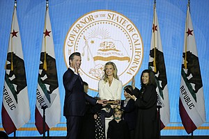California's Newsom Rebukes White House In Inaugural
