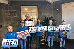 Photo for Young SeaSavers Lobby To Ban Kelp Dredging in Scotland