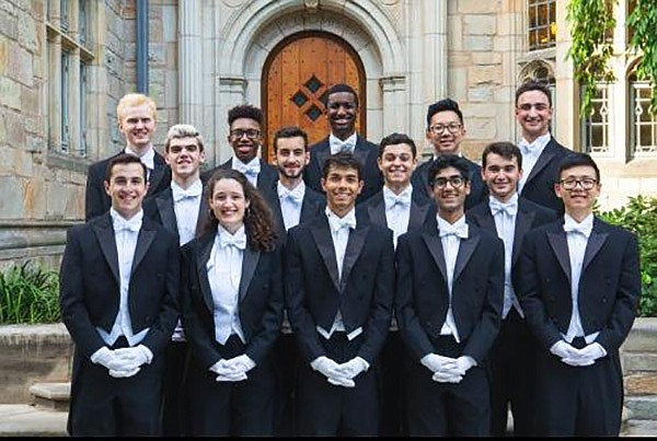 A 2018 photo of Yale's Whiffenpoofs a capella group.