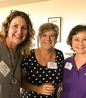 Trina Hester, Jocelyn Bauer, and Peggy Matarese at the Iceland to West Greenland Post-trip Reception.