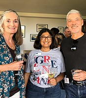 Julie Karlo, Anita Goswami, and Carlos Chavarria at the Iceland to West Greenland Post-trip Reception.