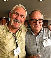Samuel DeRuntz and Chris Carnes at the Iceland to West Greenland Post-trip Reception.
