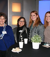 Patricia Bennett, Corporate Development Annette Fleming, Caitlin Copley, and Erin Copley at the Victoria: Season 3 screening.