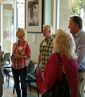 Producers Club members touring the Gary and Mary West Senior Wellness Center.