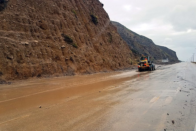 This photo provided by the California Department of Transportation (CalTrans)...