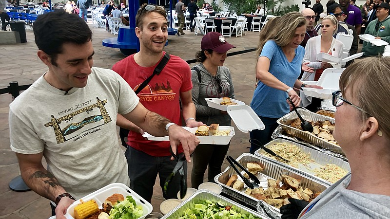 Furloughed Federal Employees Served Lunch Courtesy Of San