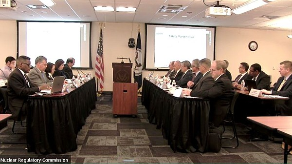 Nuclear Regulatory Commission officials meet with officia...