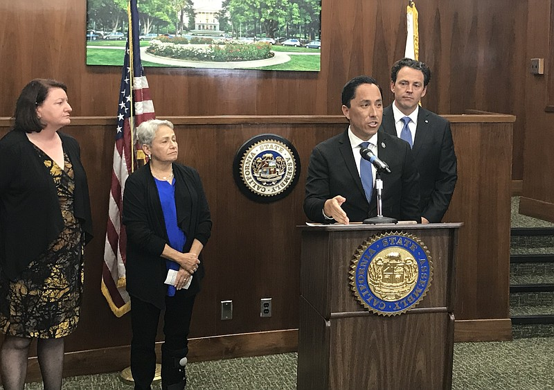 Assemblyman Todd Gloria, D-San Diego, speaks at a news conference regarding a...