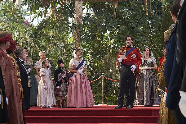 Prince Albert played by Tom Hughes and Queen Victoria pla...