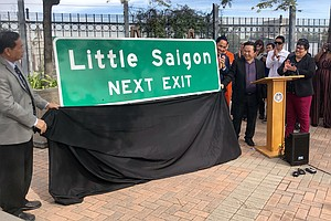 Photo for Vietnamese Community In City Heights Gets Little Saigon Sign Off Interstate 15