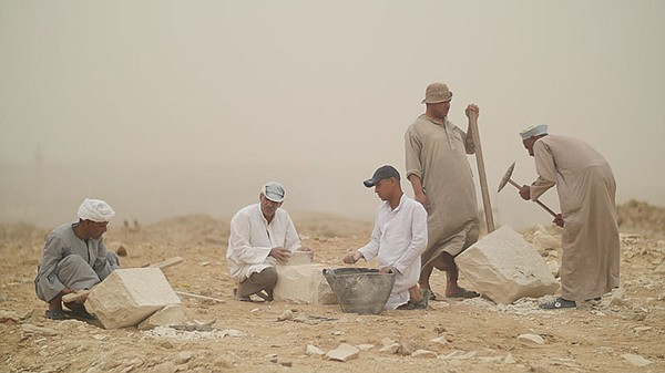 Workers in quarry - Aswan, Egypt.