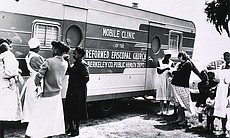 Photo of mobile clinic of the reformed Episcopa...