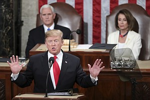 Photo for Trump Calls For Bipartisanship, A Hard Line On Immigration