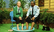 Fred Rogers (left) with Francois Scarborough Cl...
