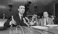 Fred Rogers testifying before the United States...