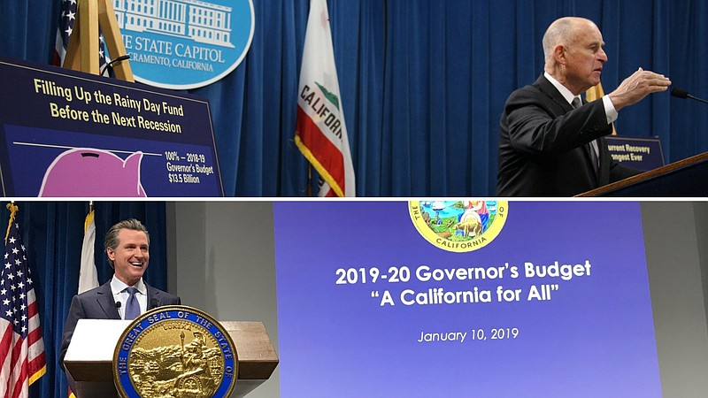 Former California Gov. Jerry Brown favored poster board charts for his budget...