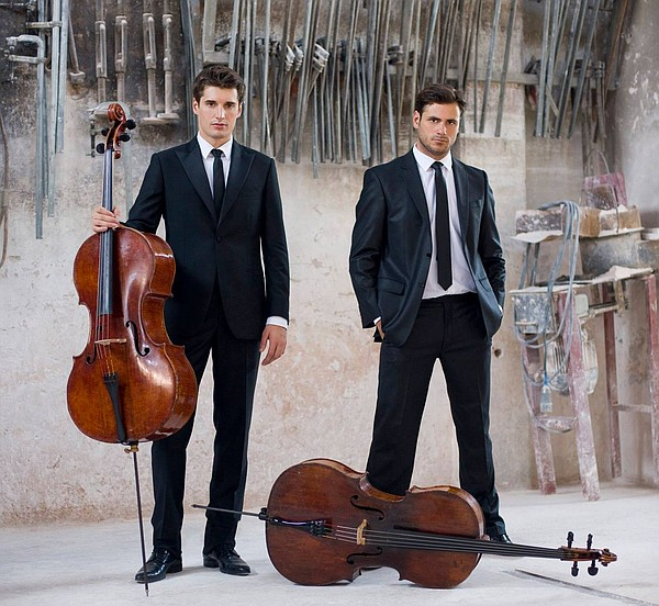 A photo of Luka Sulic and Stjepan Hauser from 2Cellos.