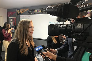 Photo for Chelsea Clinton Visits San Diego Foster Youth