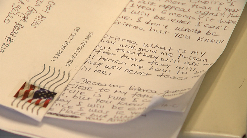 A letter written by the asylum-seeker is available at the San Diego State Uni...