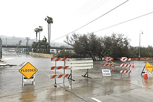 Photo for Heavy Rain Brings Road Closures, Flooding To San Diego County