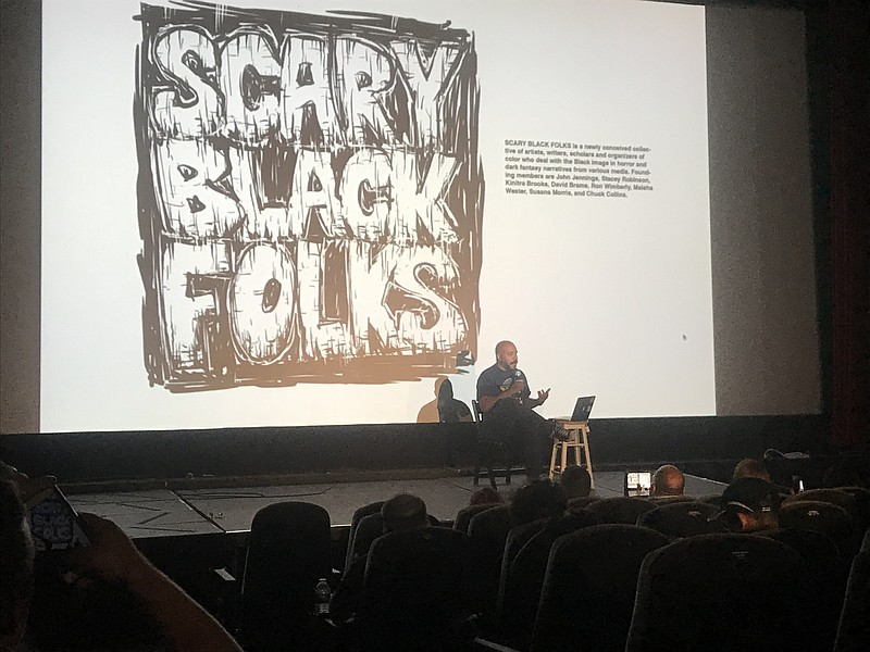 John Jennings at his Scary Black Folks panel at...