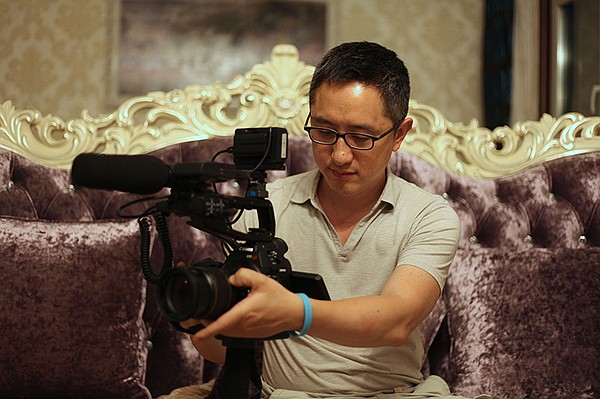 Filmmaker Hao Wu on location in China.