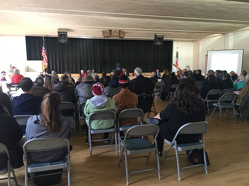 Attendees at a Park and Recreation Board meeting, Feb. 21, 2019.